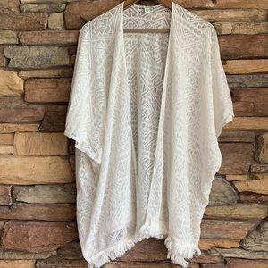American Eagle Lace Crochet Kimono One Size